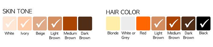 رنگ پوست و مو برای لیزر مو های زائد