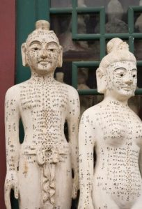 مجسمه ها نقاط طب سوزنی