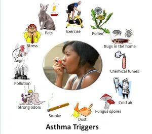 عوامل محرک برای آسم